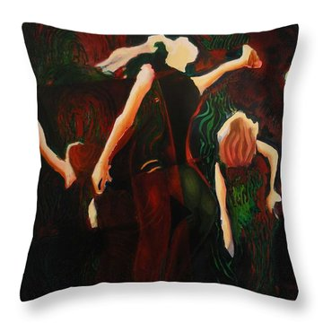 Intricate Moves Throw Pillow by Georg Douglas