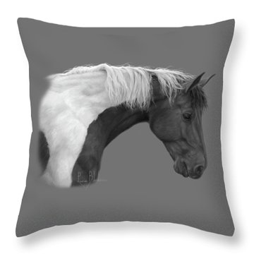 Intrigued - Black And White Throw Pillow