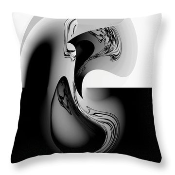 Introspection Digital Art Throw Pillow