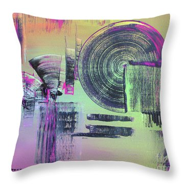 Throw Pillow featuring the painting Introvert by Melissa Goodrich