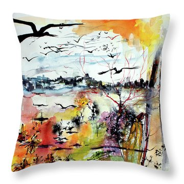 My Last Day On Earth. Tomorrow Is A New Beginning Throw Pillow