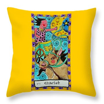 Intuitive Catalyst Card - Chariot Throw Pillow