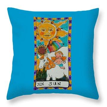 Intuitive Catalyst Card - Sun Throw Pillow