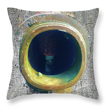 Throw Pillow featuring the mixed media Inturupted by Tony Rubino