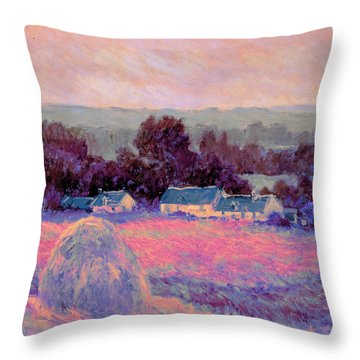 Inv Blend 10 Monet Throw Pillow by David Bridburg
