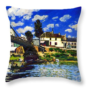 Inv Blend 14 Sisley Throw Pillow by David Bridburg
