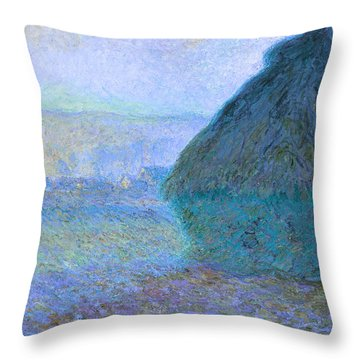 Inv Blend 21 Monet Throw Pillow by David Bridburg