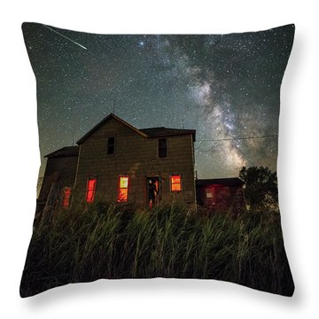 Throw Pillow featuring the photograph Invasion by Aaron J Groen