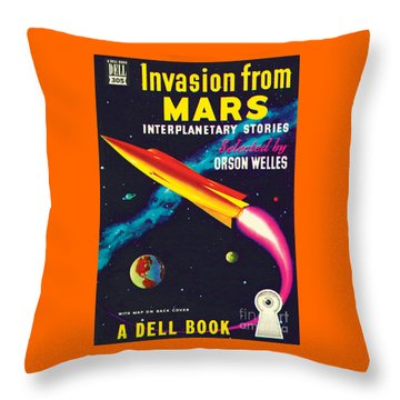 Invasion From Mars Throw Pillow