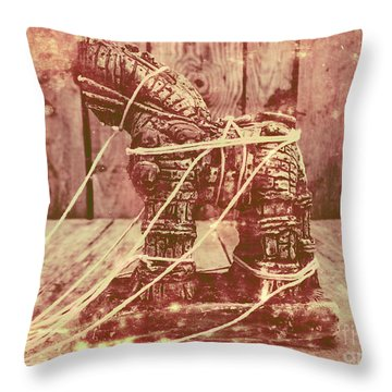 Invasion In Ancient History Throw Pillow