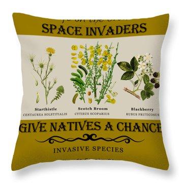 Invasive Species Nevada County, California Throw Pillow
