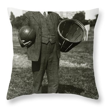 Inventor Of Basketball Throw Pillow