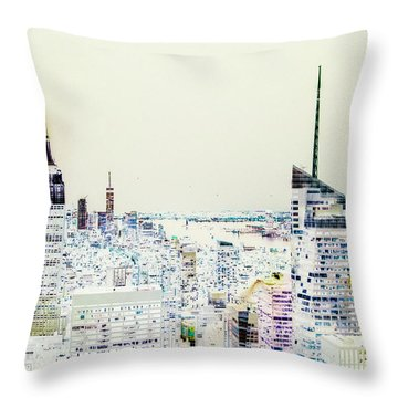 Throw Pillow featuring the photograph Inversion Layer by Alex Lapidus