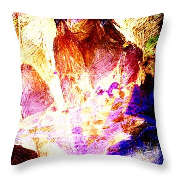 Inverted Blue Throw Pillow