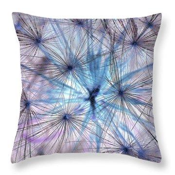 Inverted Dandelion Throw Pillow