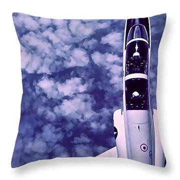 Inverted Flight Throw Pillow
