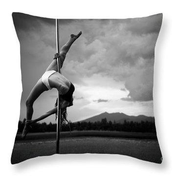Inverted Splits Pole Dance Throw Pillow