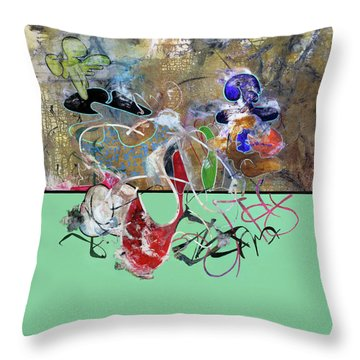 Invest In Imagination Throw Pillow by Antonio Ortiz