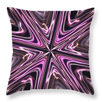 Inviolate Violet Throw Pillow by David Dunham