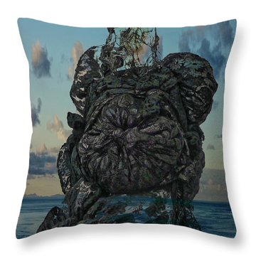 Invisable Lady Throw Pillow by Joan Reese