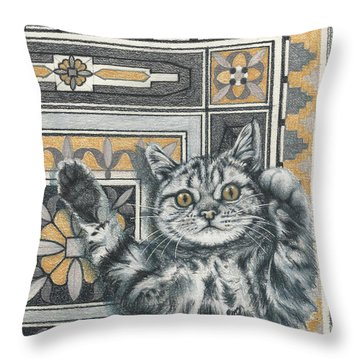 Invisible Cat Throw Pillow