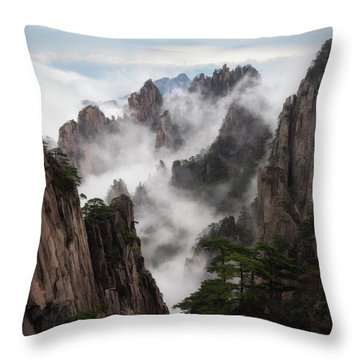 Invisible Hands Painting The Mountains. Throw Pillow