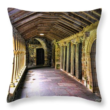 Arched Invitation Passageway Throw Pillow