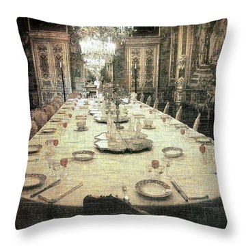 Invitation To Dinner At The Castle... Throw Pillow