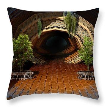 Inviting Dark Tunnel Throw Pillow