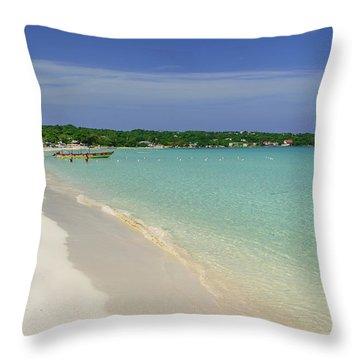 Seven Mile Beach, Negril Throw Pillow