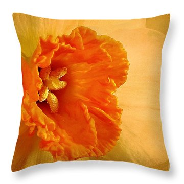 Inviting Throw Pillow by Lois Bryan