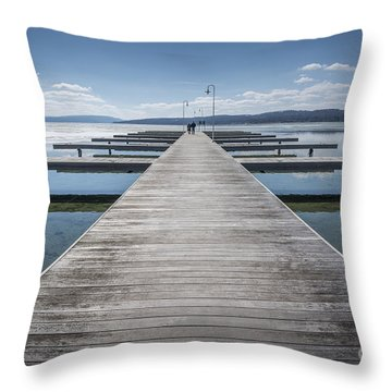 Inviting Walk Throw Pillow