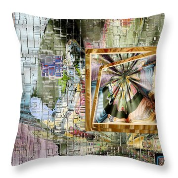 Throw Pillow featuring the digital art Inw_20a5067_peasantries_profile-left by Kateri Starczewski