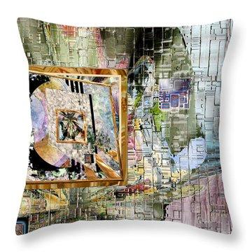 Throw Pillow featuring the digital art Inw_20a5068_peasantries_profile-right by Kateri Starczewski