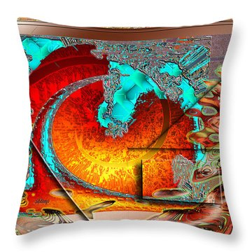 Throw Pillow featuring the digital art Inw_20a0600a_siblings by Kateri Starczewski