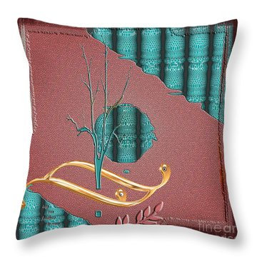 Throw Pillow featuring the digital art Inw_20a5562-sq_sap-run-feathers-to-come by Kateri Starczewski