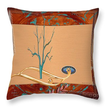 Throw Pillow featuring the digital art Inw_20a5563-sq_sap-run-feathers-to-come by Kateri Starczewski