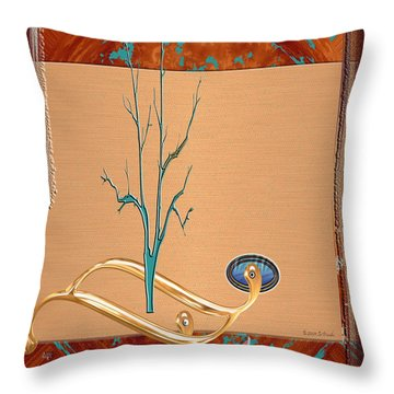 Throw Pillow featuring the digital art Inw_20a5563_sap-run-feathers-to-come by Kateri Starczewski