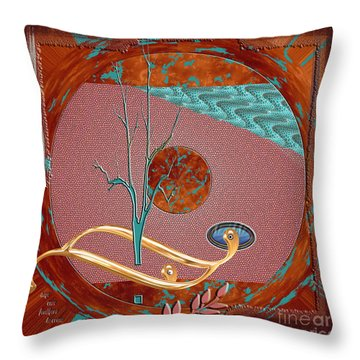 Throw Pillow featuring the digital art Inw_20a5564sq_sap-run-feathers-to-come by Kateri Starczewski