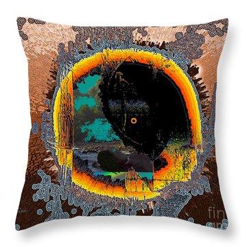 Throw Pillow featuring the digital art Inw_20a5566_morning-cliffs by Kateri Starczewski