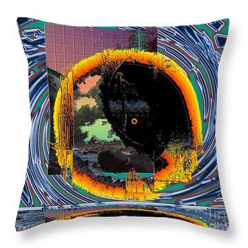 Throw Pillow featuring the digital art Inw_20a5567_morning-cliffs by Kateri Starczewski