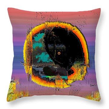 Throw Pillow featuring the digital art Inw_20a5569_blankets by Kateri Starczewski