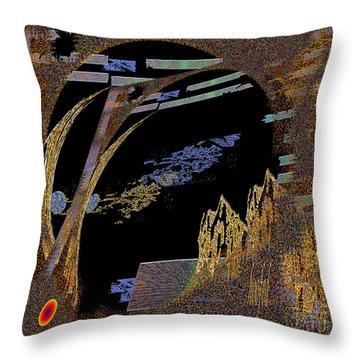 Throw Pillow featuring the digital art Inw_20a5580_hoofed by Kateri Starczewski