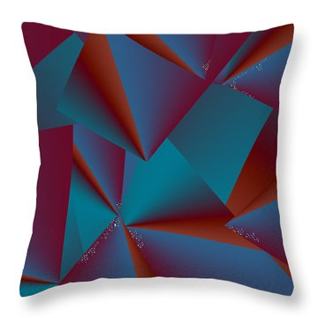 Throw Pillow featuring the digital art Inw_20a6146 Free Fall Drop To Crystal by Kateri Starczewski