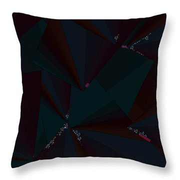 Throw Pillow featuring the digital art Inw_20a6148 Free Fall Drop To Crystal by Kateri Starczewski