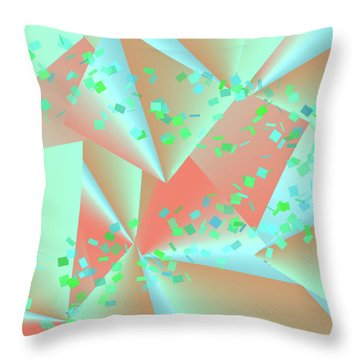 Throw Pillow featuring the digital art inw_20a6151-MH17 sweet currents by Kateri Starczewski