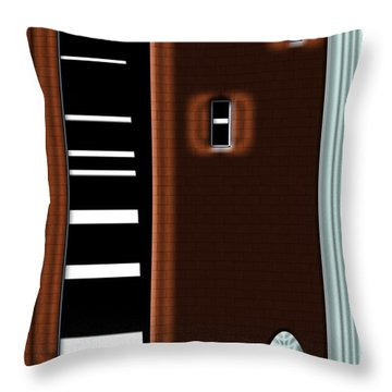 Throw Pillow featuring the digital art Inw_20a6472_basements by Kateri Starczewski