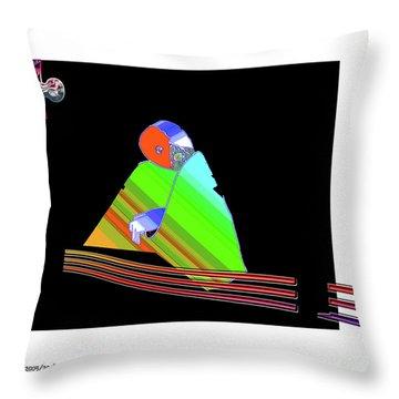 Throw Pillow featuring the digital art inw_20a6501 Be between Rocks by Kateri Starczewski