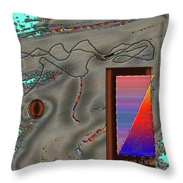 Throw Pillow featuring the digital art Inw_20a6504 Cheek To Cheek by Kateri Starczewski