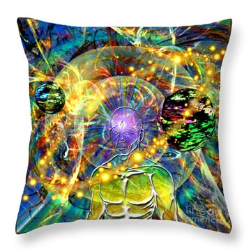 Inward Exploration Throw Pillow